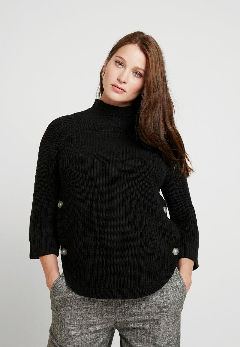 GAP Maternity - NURSING SIDE SLIT - Stickad tröja - true black