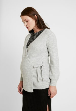 SIDE TIE WRAP - Cardigan - heather grey