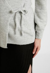 GAP Maternity - SIDE TIE WRAP - Neuletakki - heather grey - 4