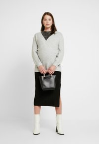 GAP Maternity - SIDE TIE WRAP - Kardigan - heather grey - 1