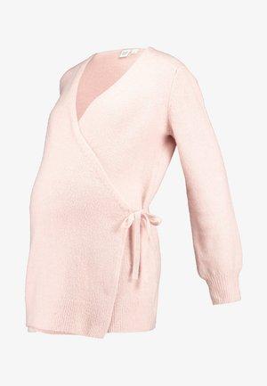 SIDE TIE WRAP - Cardigan - pink