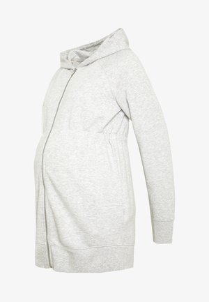 NEW ESSENTIAL BRUSHED ZIP HOODIE - Bluza rozpinana - heather grey