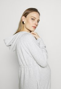 GAP Maternity - NEW ESSENTIAL BRUSHED ZIP HOODIE - Hettejakke - heather grey