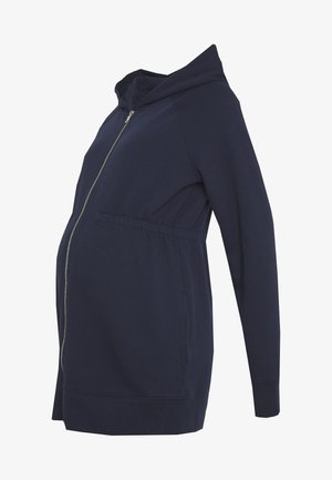 NEW ESSENTIAL BRUSHED ZIP HOODIE - Bluza rozpinana - navy uniform