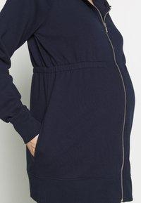 GAP Maternity - NEW ESSENTIAL BRUSHED ZIP HOODIE - Bluza rozpinana - navy uniform - 5