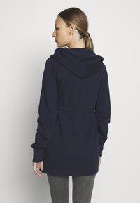 GAP Maternity - NEW ESSENTIAL BRUSHED ZIP HOODIE - Bluza rozpinana - navy uniform - 2