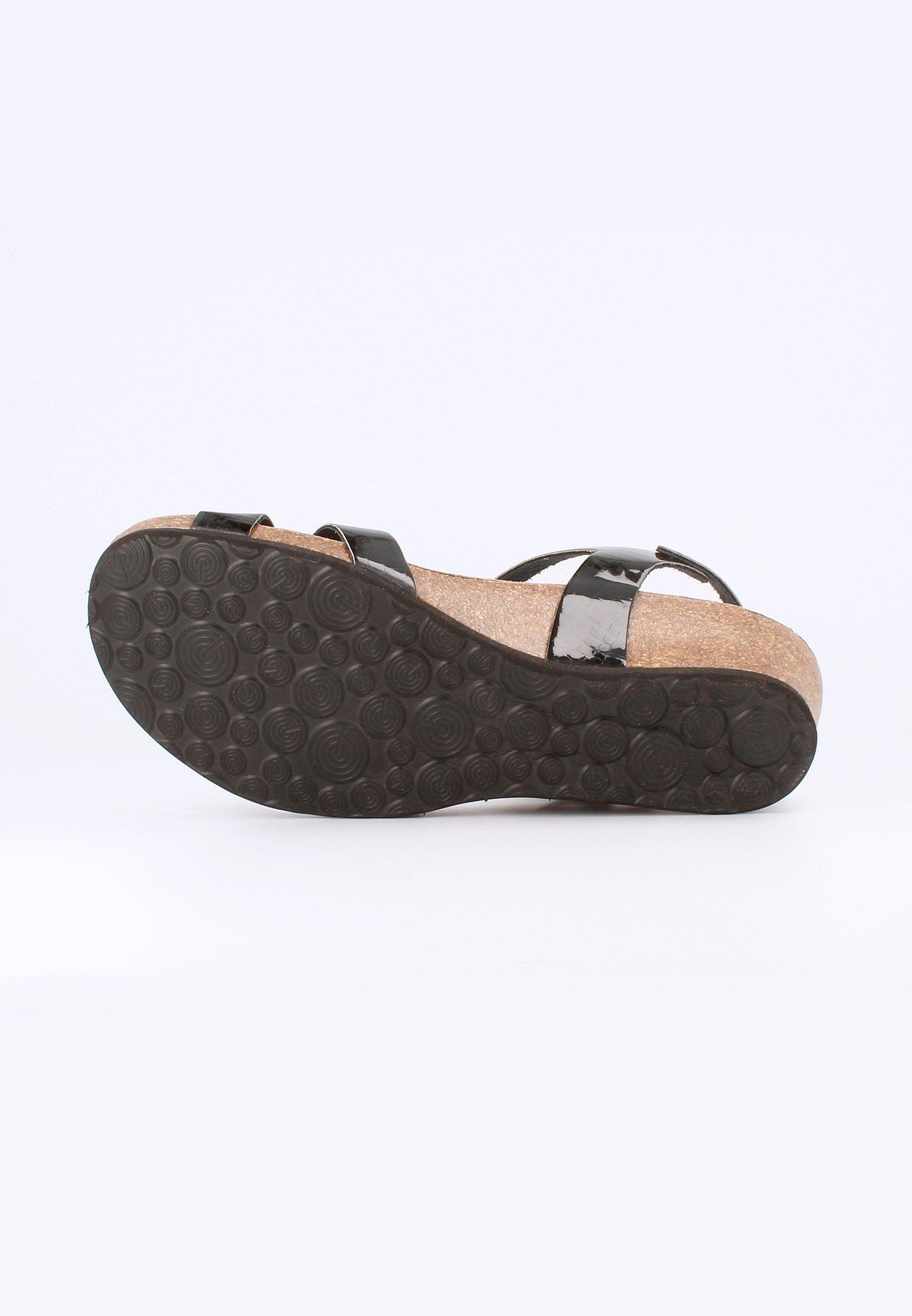 Genuins Sandalen Met Sleehak - Schwarz Goedkope Schoenen