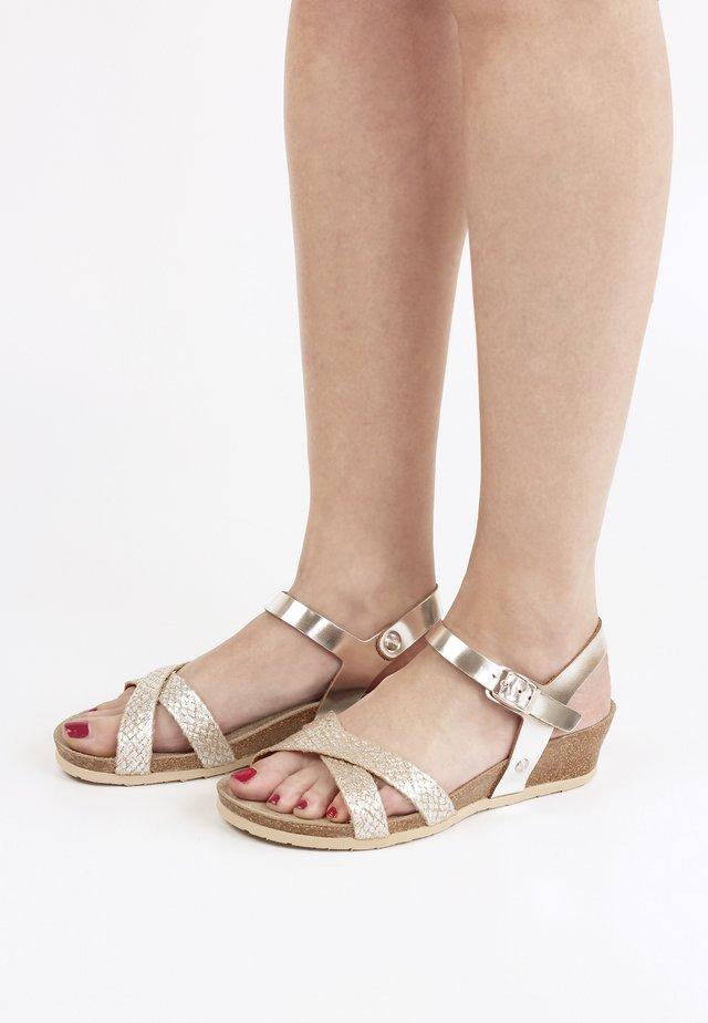 ALYSSA MET - Sandales compensées - silber
