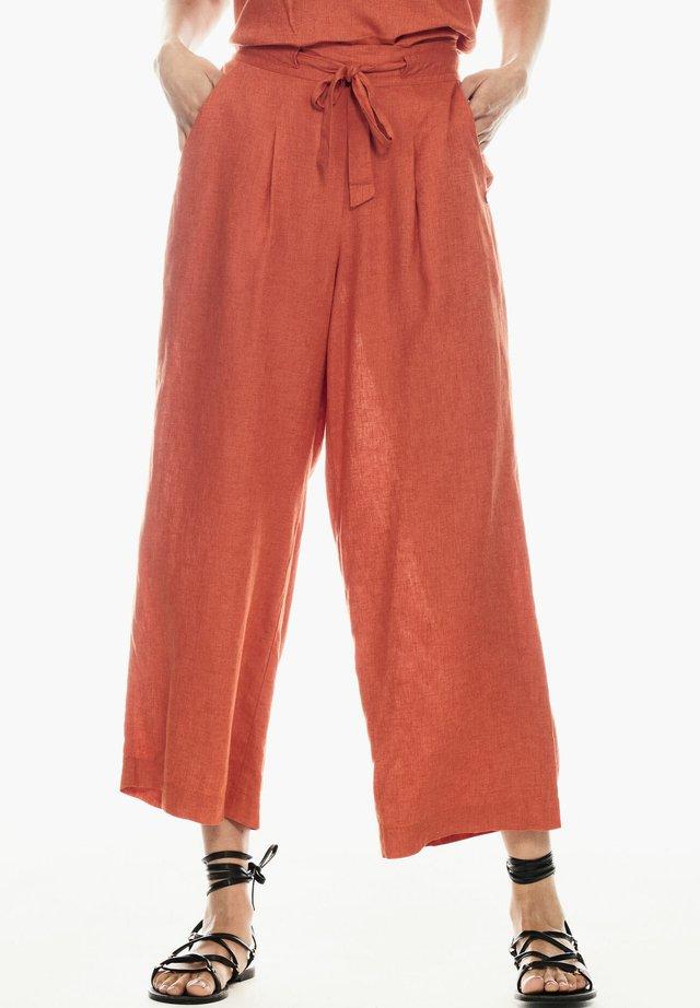 Trousers - burnt ochre