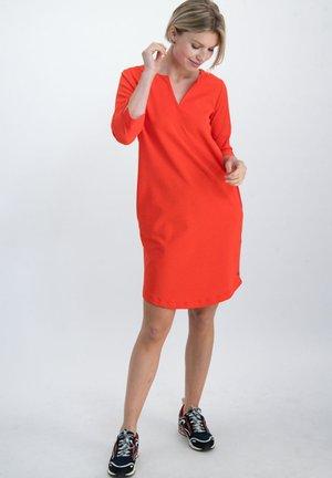 Korte jurk - poppy red