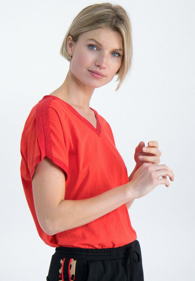 T-shirt imprimé - poppy red