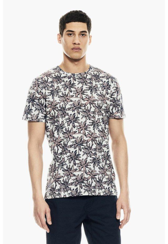 T-Shirt print - white melee