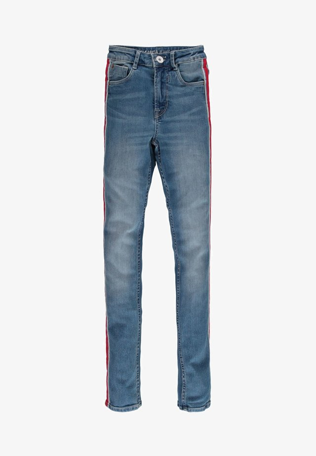 WITH STRIPE - Jean slim - blue denim