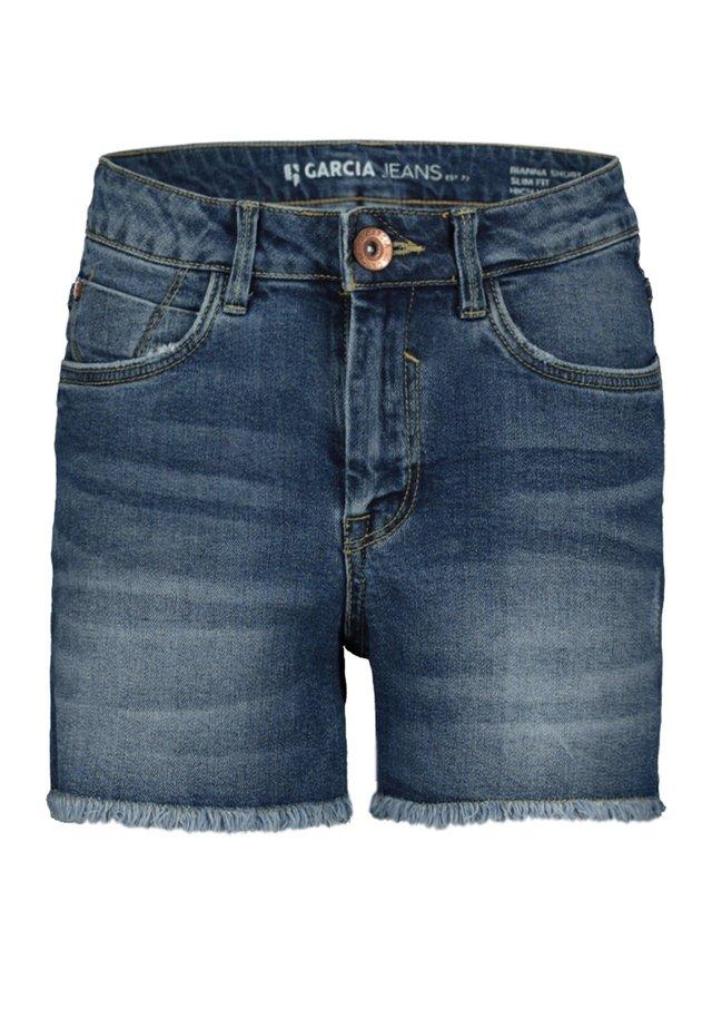 RIANNA - Denim shorts - blue