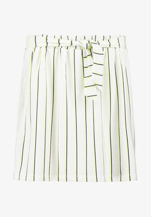 STRIPED - A-line skirt - off white