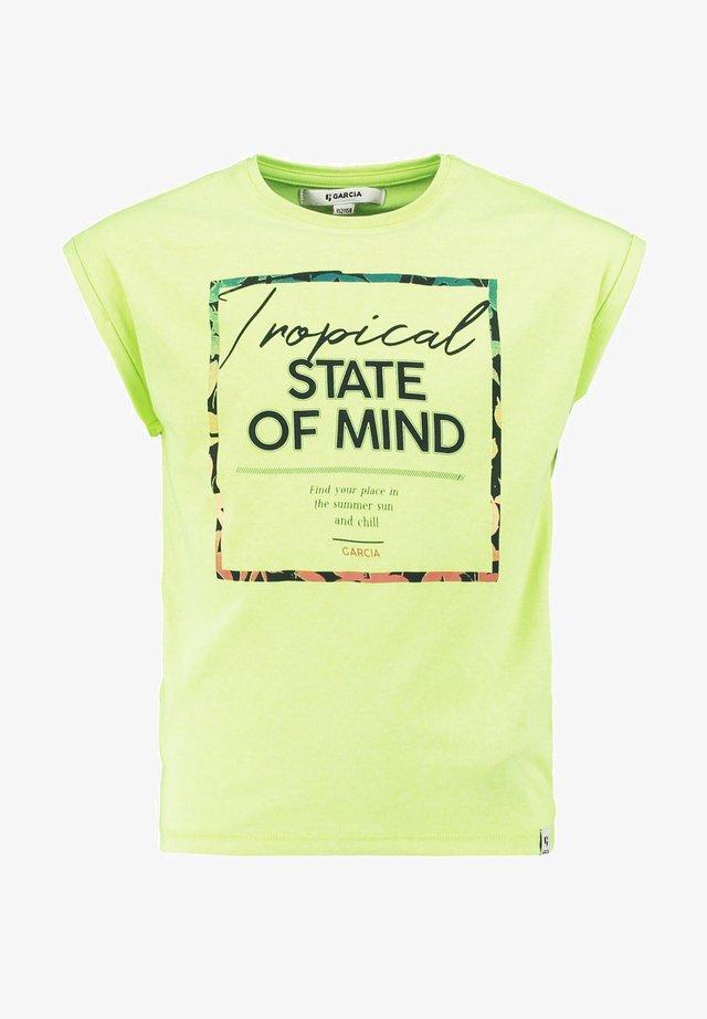 T-Shirt print - urban yellow
