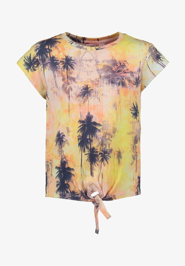 T-shirt print - fire yellow