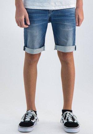 LASZLO - Denim shorts - blue