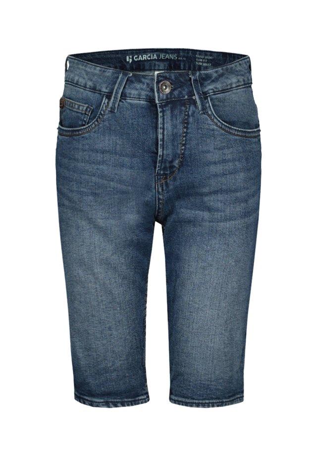 TAVIO - Jeans Shorts - blue