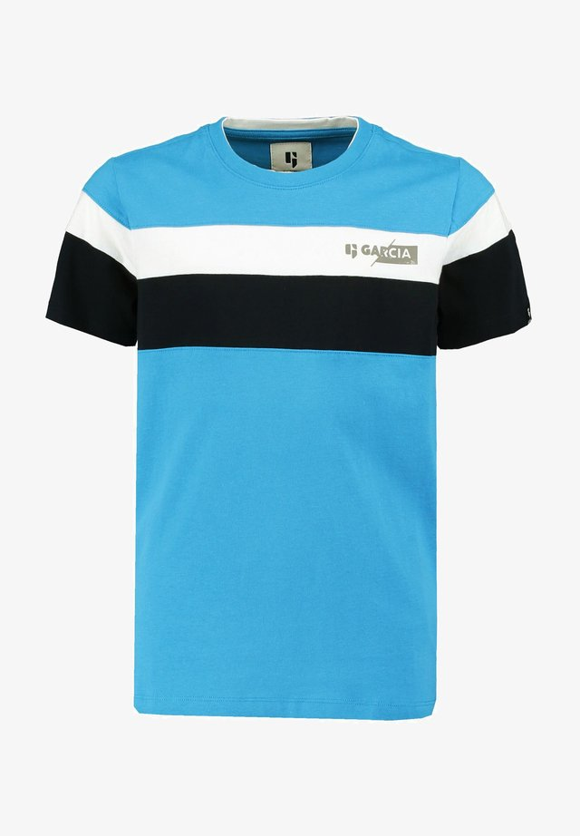 T-shirt print - vivid blue