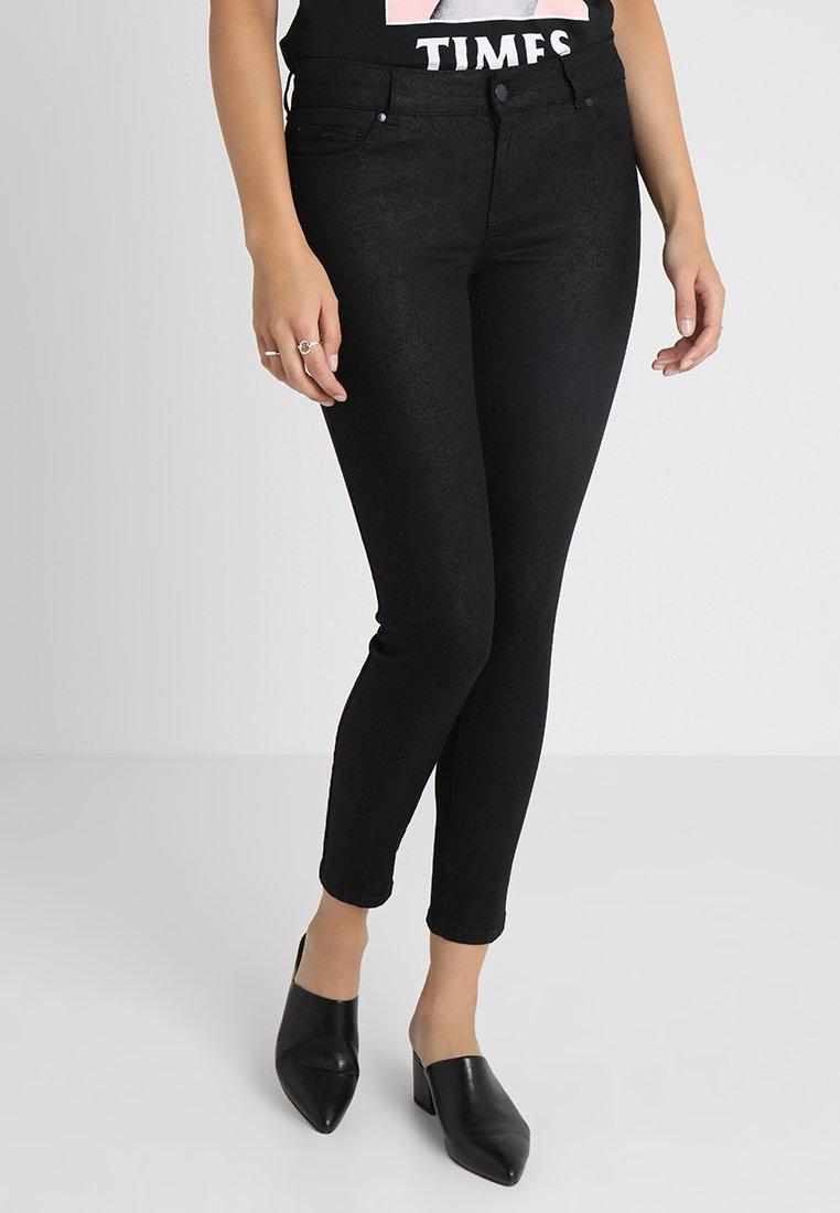 GAS - BRITTY UP ZIP - Jeans slim fit - black denim