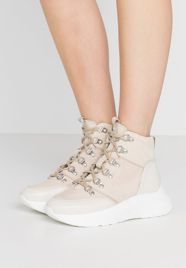 High-top trainers - stone
