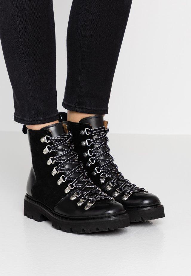 NANETTE - Platform ankle boots - black