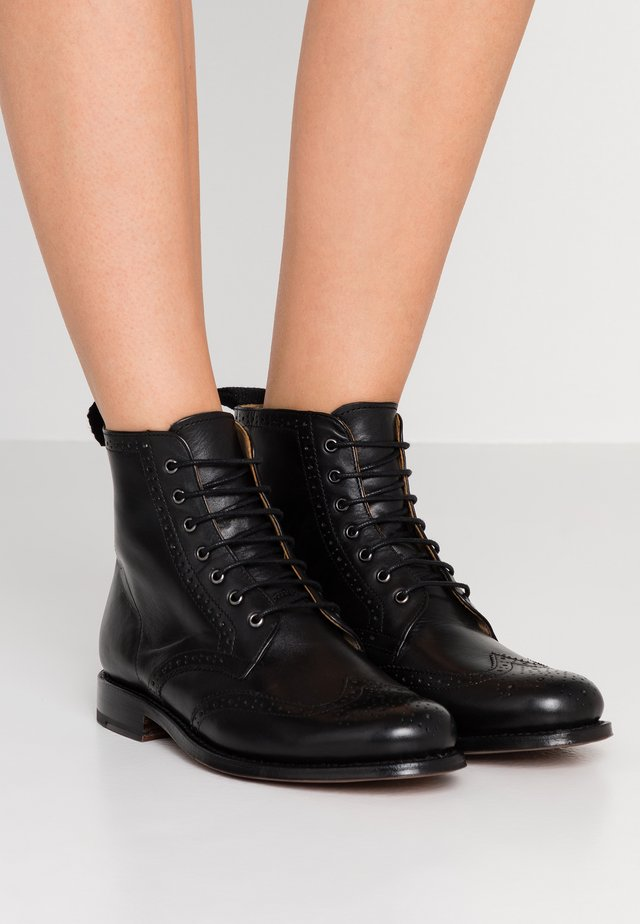 ELLA - Lace-up ankle boots - black