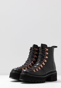Grenson - NANETTE - Botki na platformie - black colorado - 4