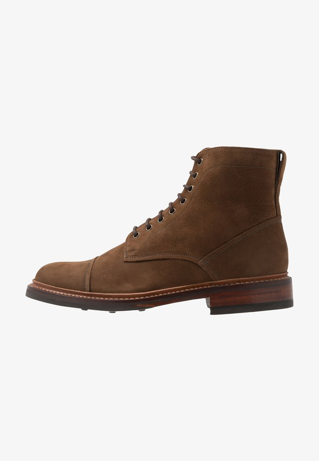 JOSEPH - Lace-up ankle boots - cigar