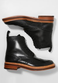 Grenson - FRED - Lace-up ankle boots - black calf - 1