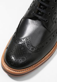 Grenson - FRED - Lace-up ankle boots - black calf - 5