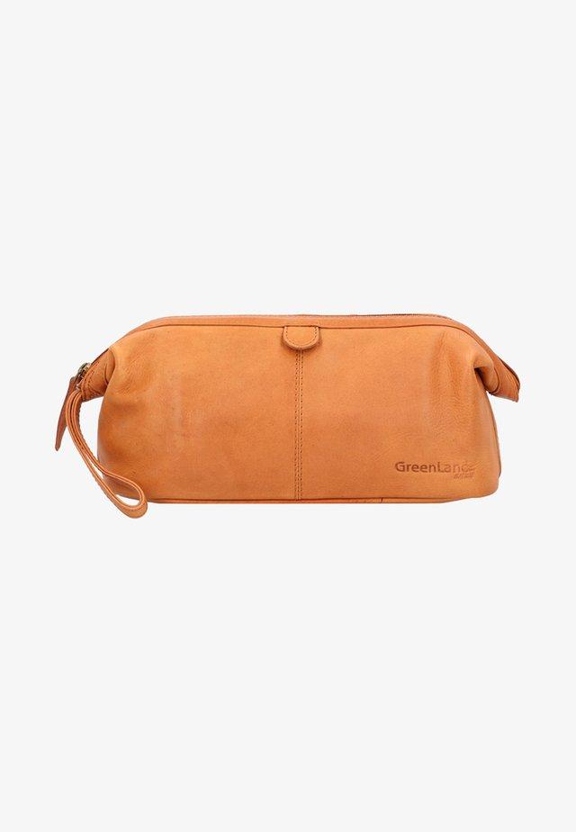 Wash bag - cognac