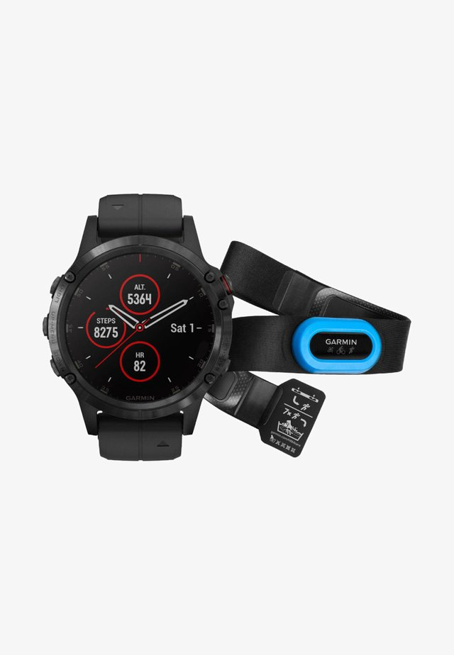 GPS FĒNIX 5 PLUS SAPPHIRE BUNDLE HRM  - Smartwatch - black