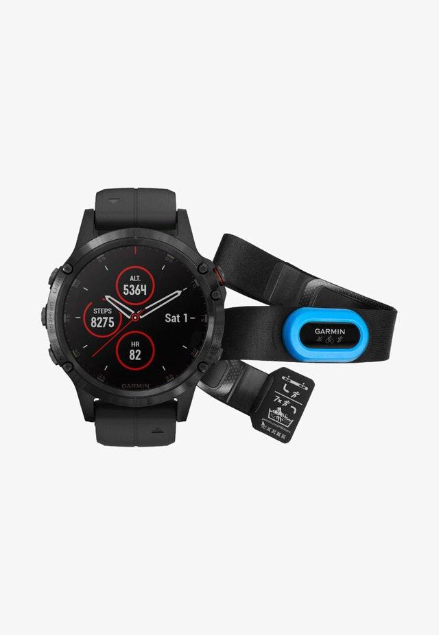 GPS FĒNIX 5 PLUS SAPPHIRE BUNDLE HRM  - Smartwatch - black