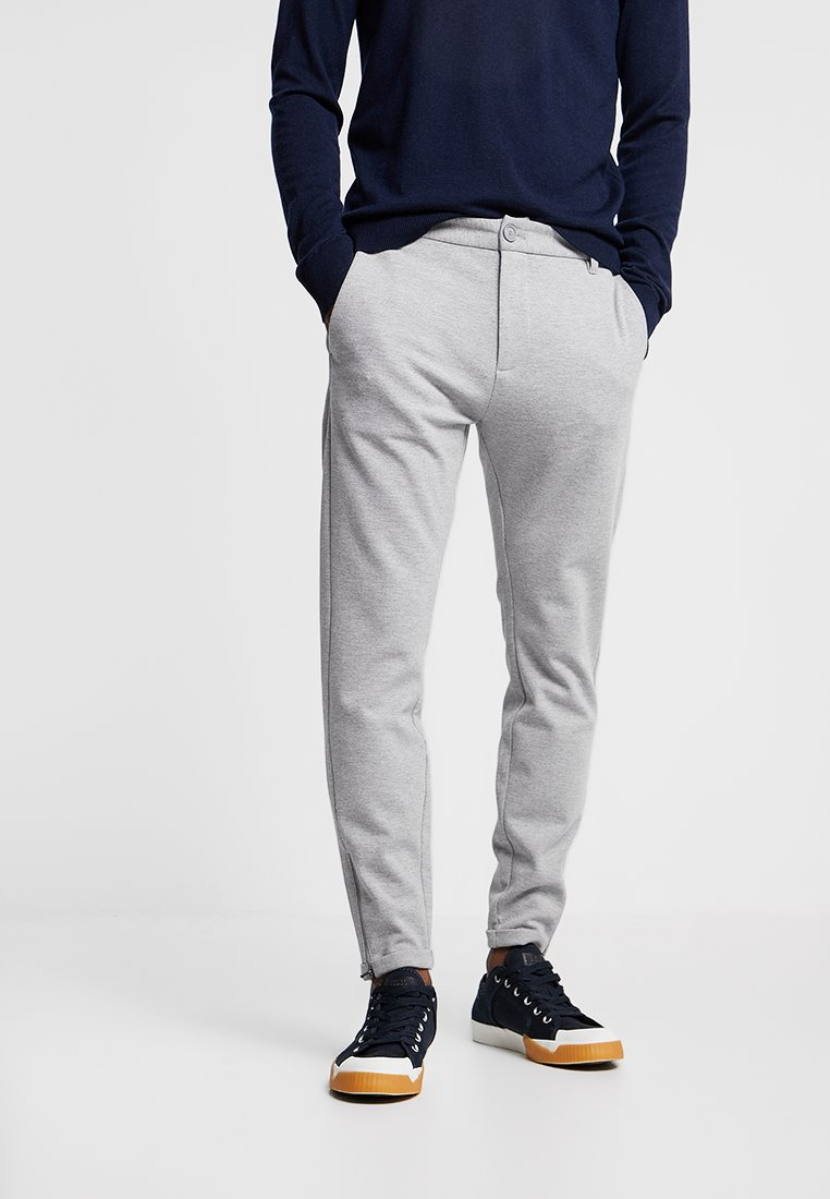 Gabba - PISA PANT - Chinos - light grey melange