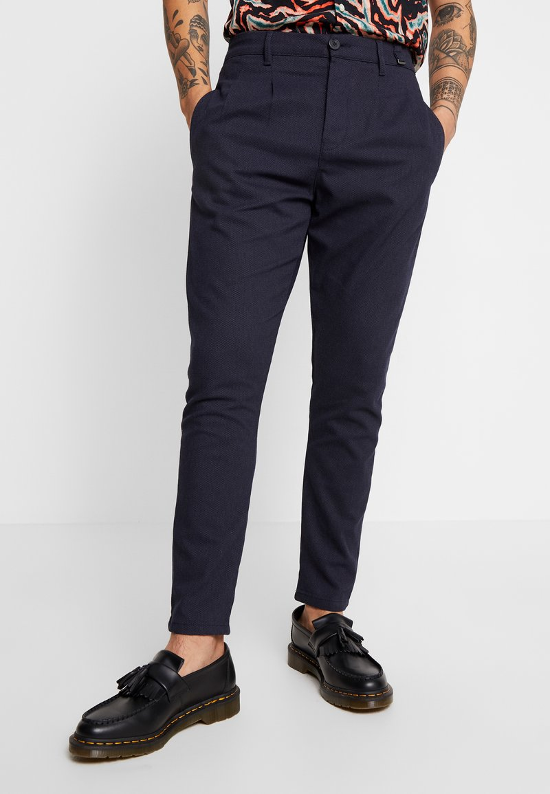 Gabba - FIRENZE SPOT - Trousers - navy