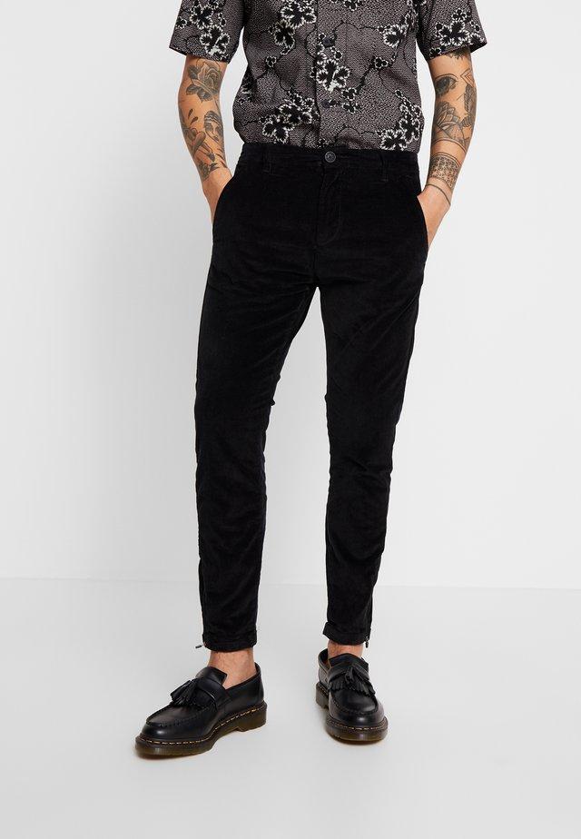 PISA PANTS - Stoffhose - black