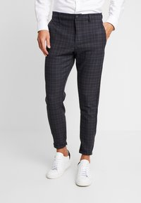 Gabba - PISA REDUE PANTS - Pantalon classique - grey check - 0
