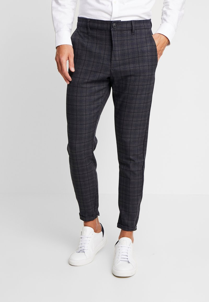 Gabba - PISA REDUE PANTS - Trousers - grey check