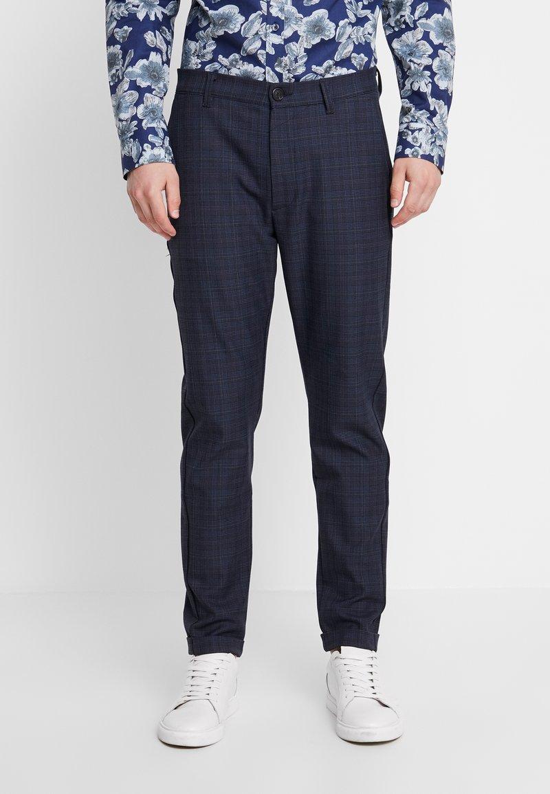 Gabba - ROME CHECK PANTS - Stoffhose - blue