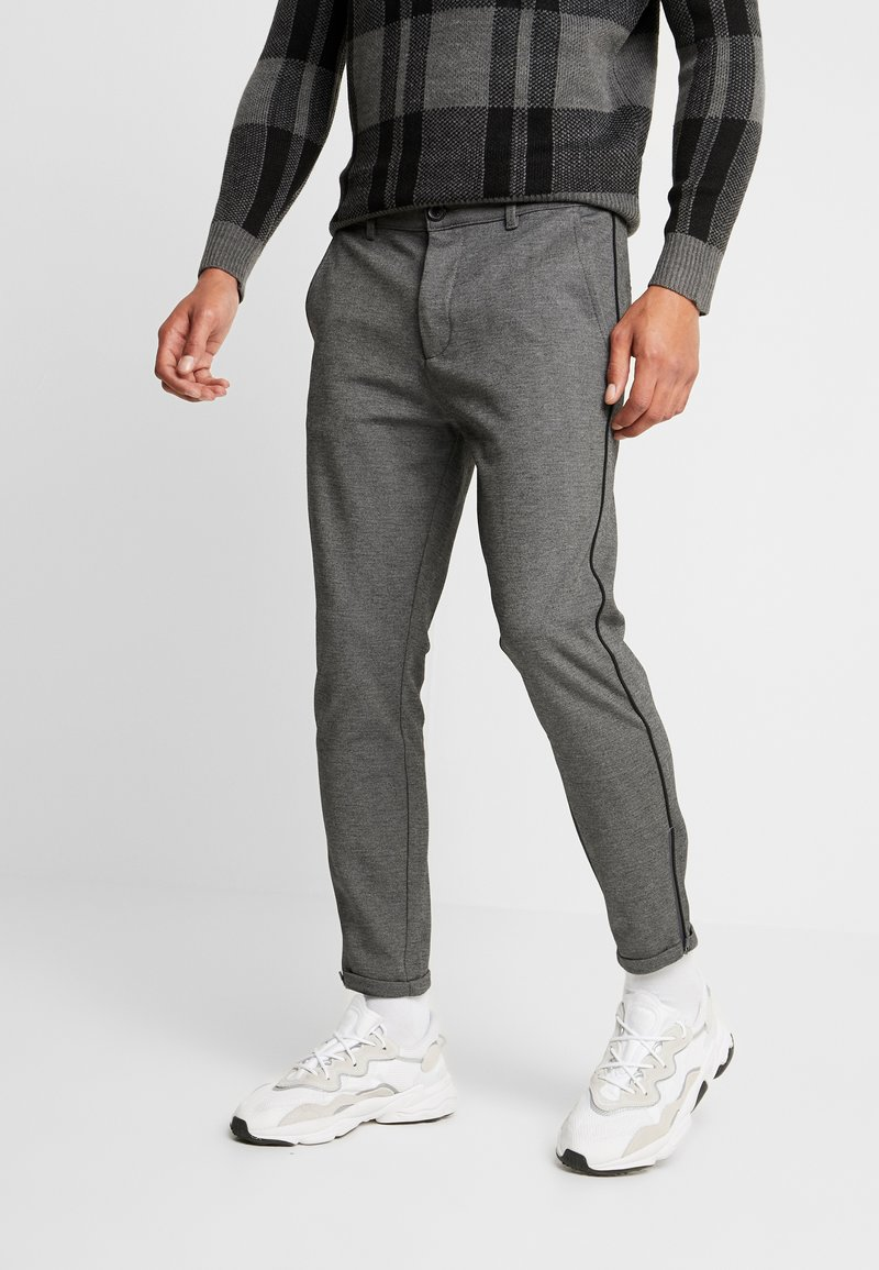 Gabba - PISA PIPE PANT - Spodnie materiałowe - grey melange