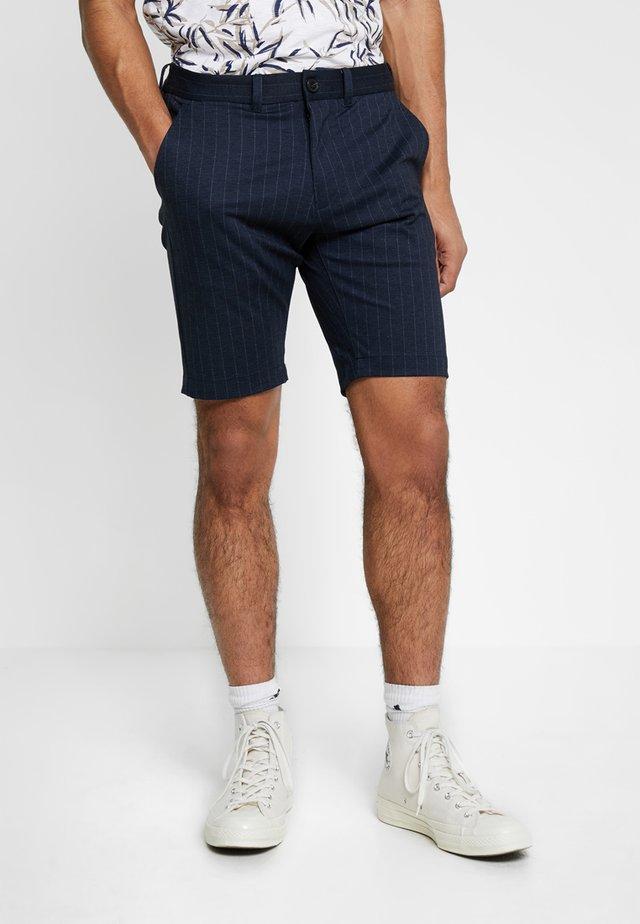 JASON PINSTRIPE - Shorts - navy