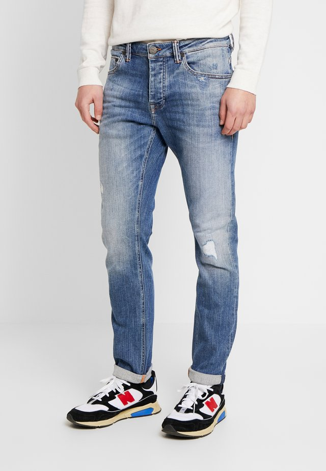 JONES DESTROY - Jeans Straight Leg - light blue denim