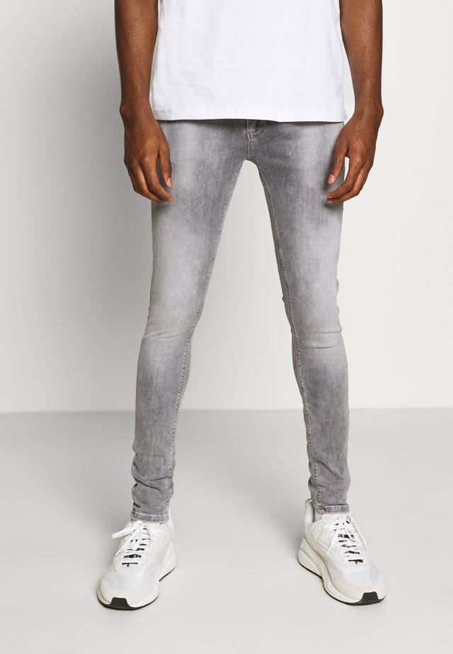 Jeansy Skinny Fit - grey denim