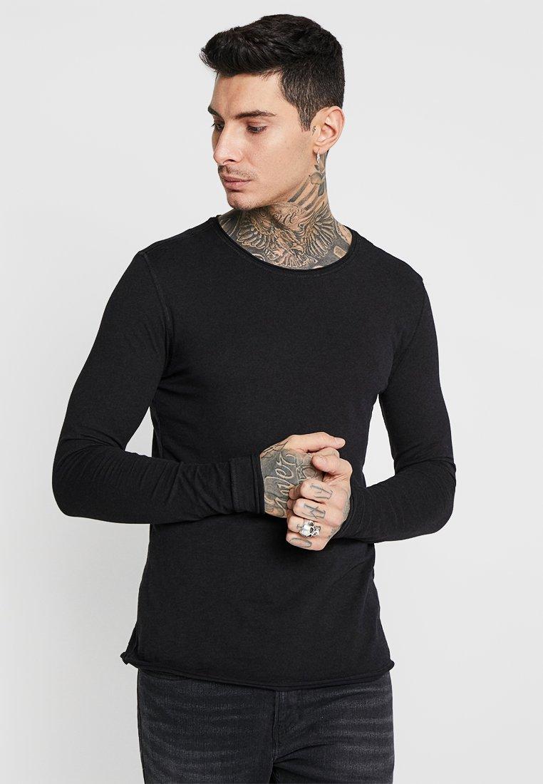 Gabba - KONRAD SLUB TEE - Langarmshirt - black
