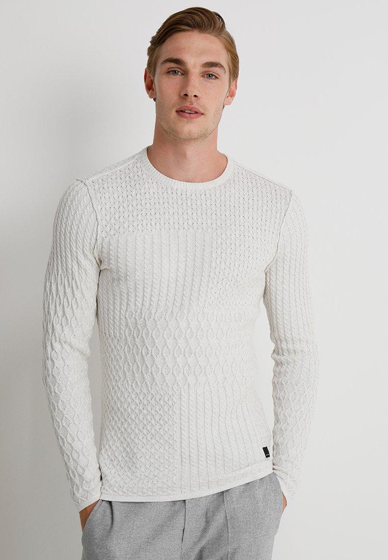 Gabba - PAUL O-NECK - Jumper - off white
