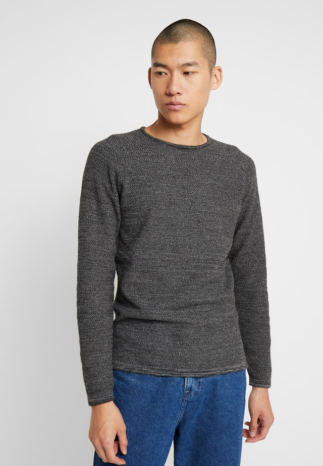 LAMP O-NECK - Strickpullover - dark grey melange