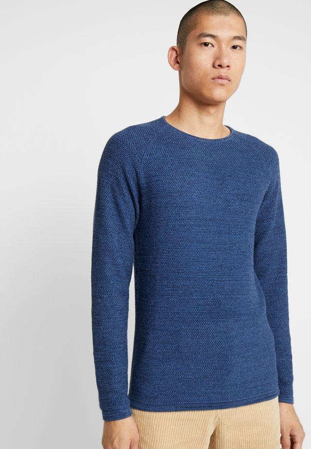 LAMP O-NECK - Strickpullover - blue melange