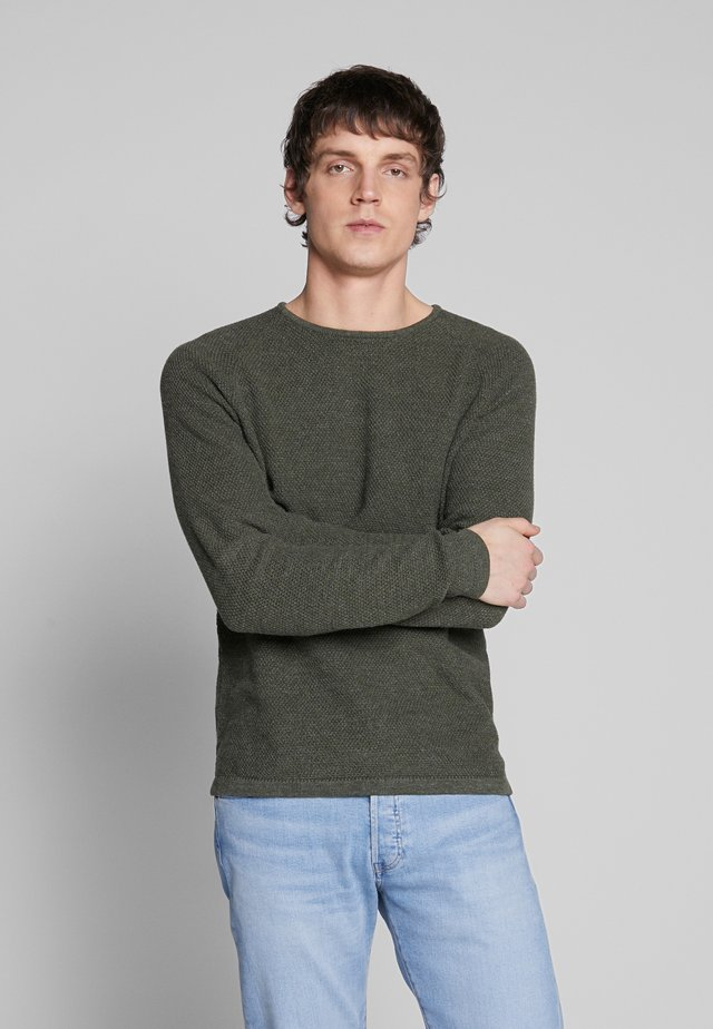 LAMP O-NECK - Strickpullover - army